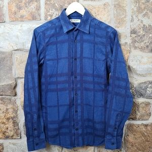 Burberry XS Flannel Plaid Button Up Down Shirt